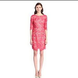 New Eliza J Coral Lace Sheath Cocktail Dress 8